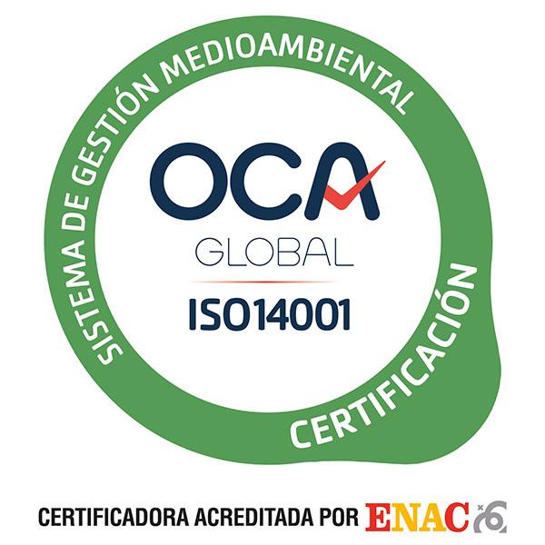 certificado ISO-14001 Jimenez Dorado