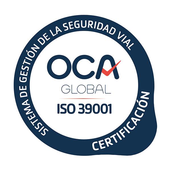 certificado ISO-39001 Jimenez Dorado