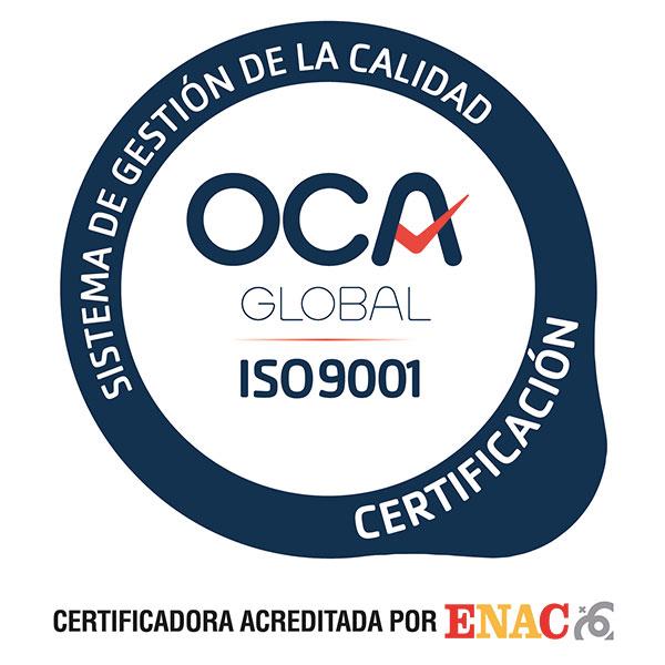 certificado ISO-9001 Jimenez Dorado